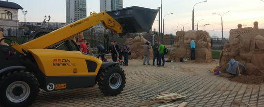 выставка песчаных фигур в Минске